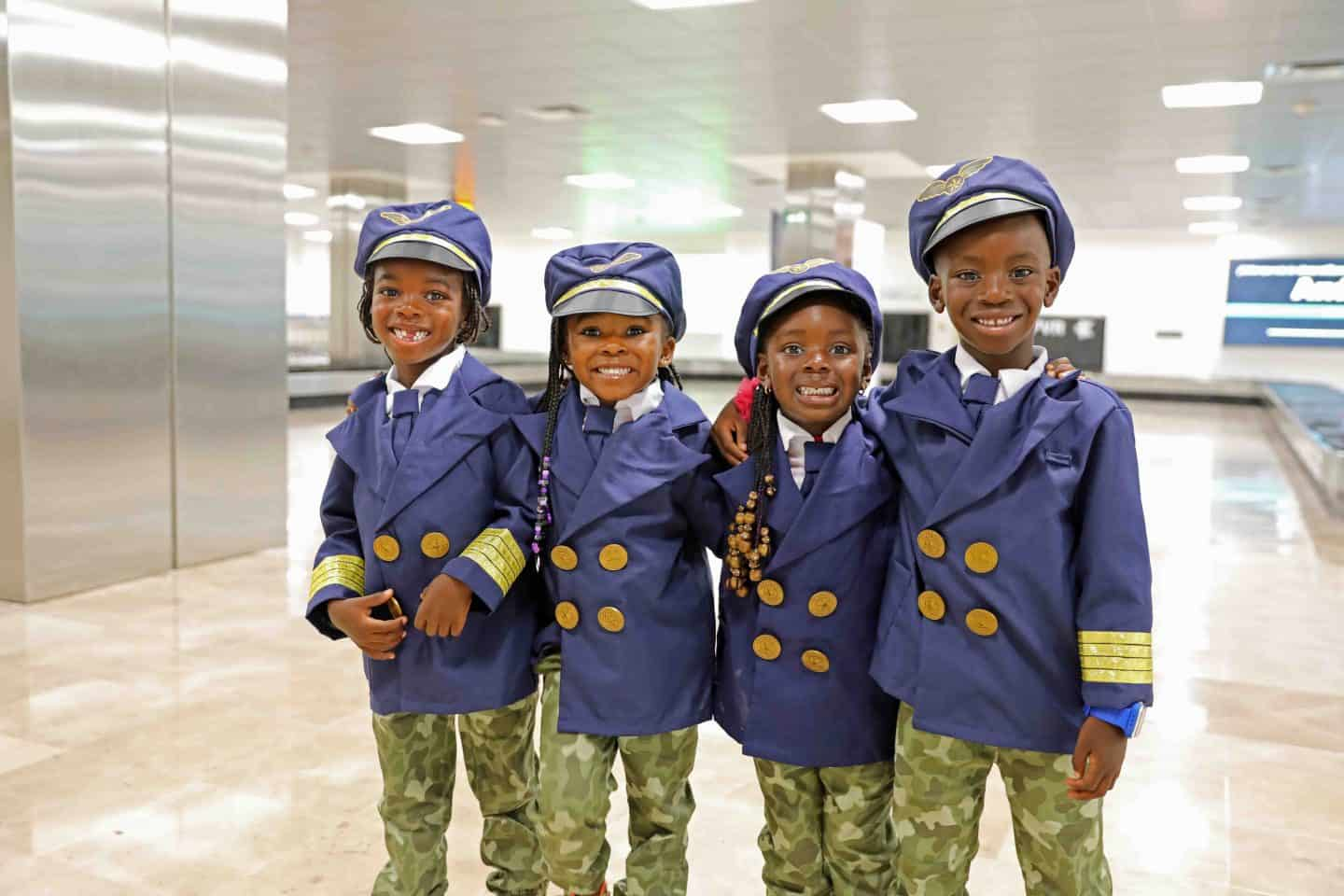 kids in pilot costumes