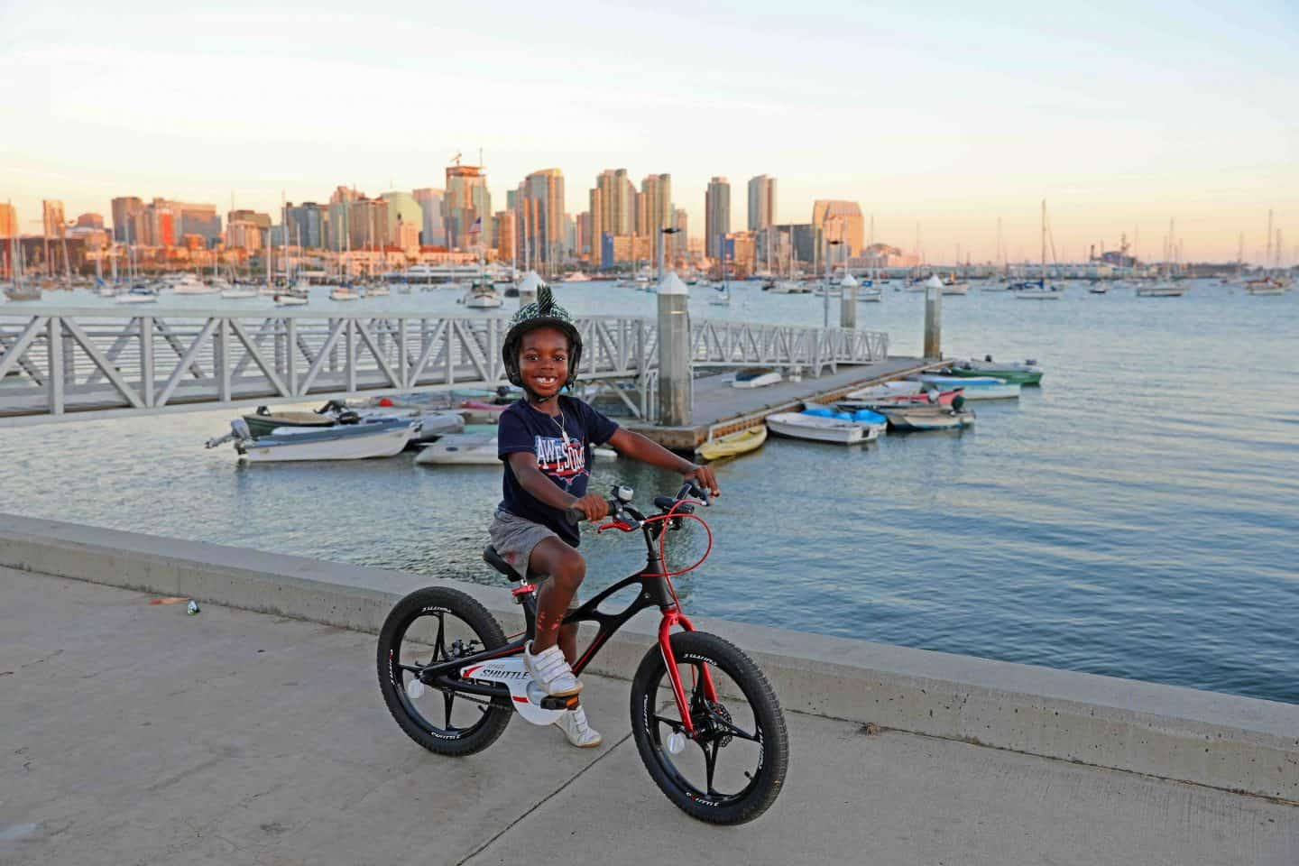 Riding bikes in Harbor View