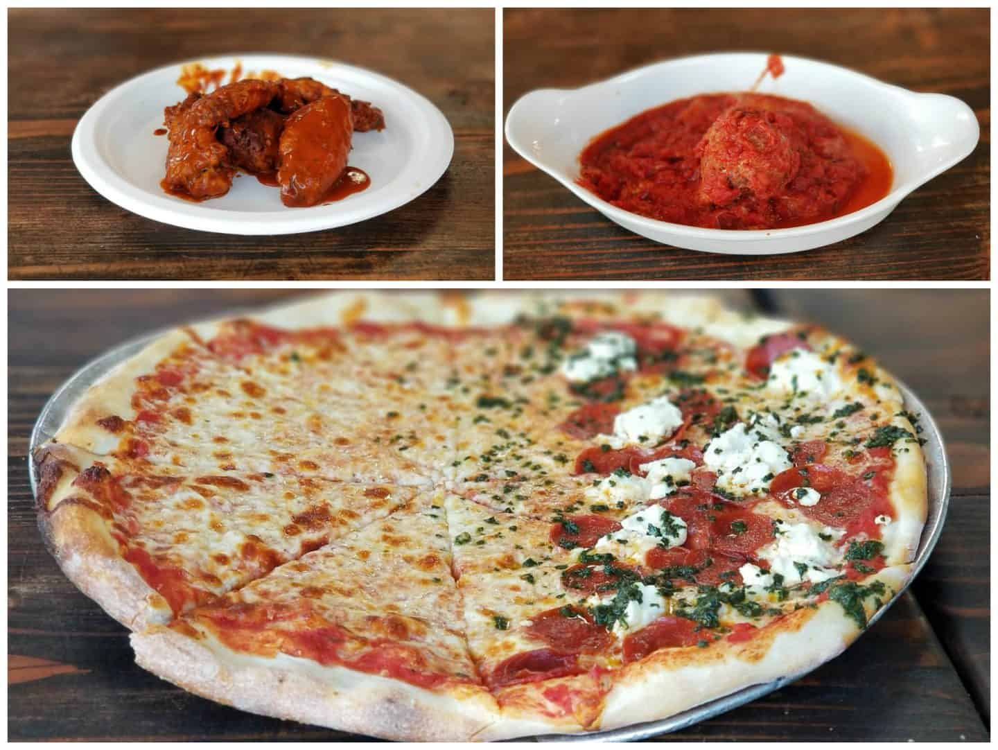 Pizza and appetizers from Landini's Pizzeria