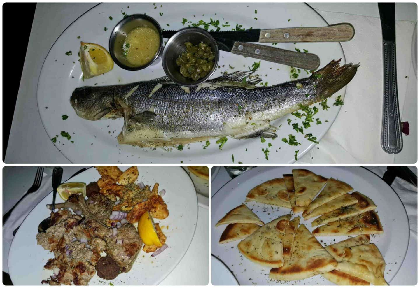 dishes from Greek Islands in Palm Springs