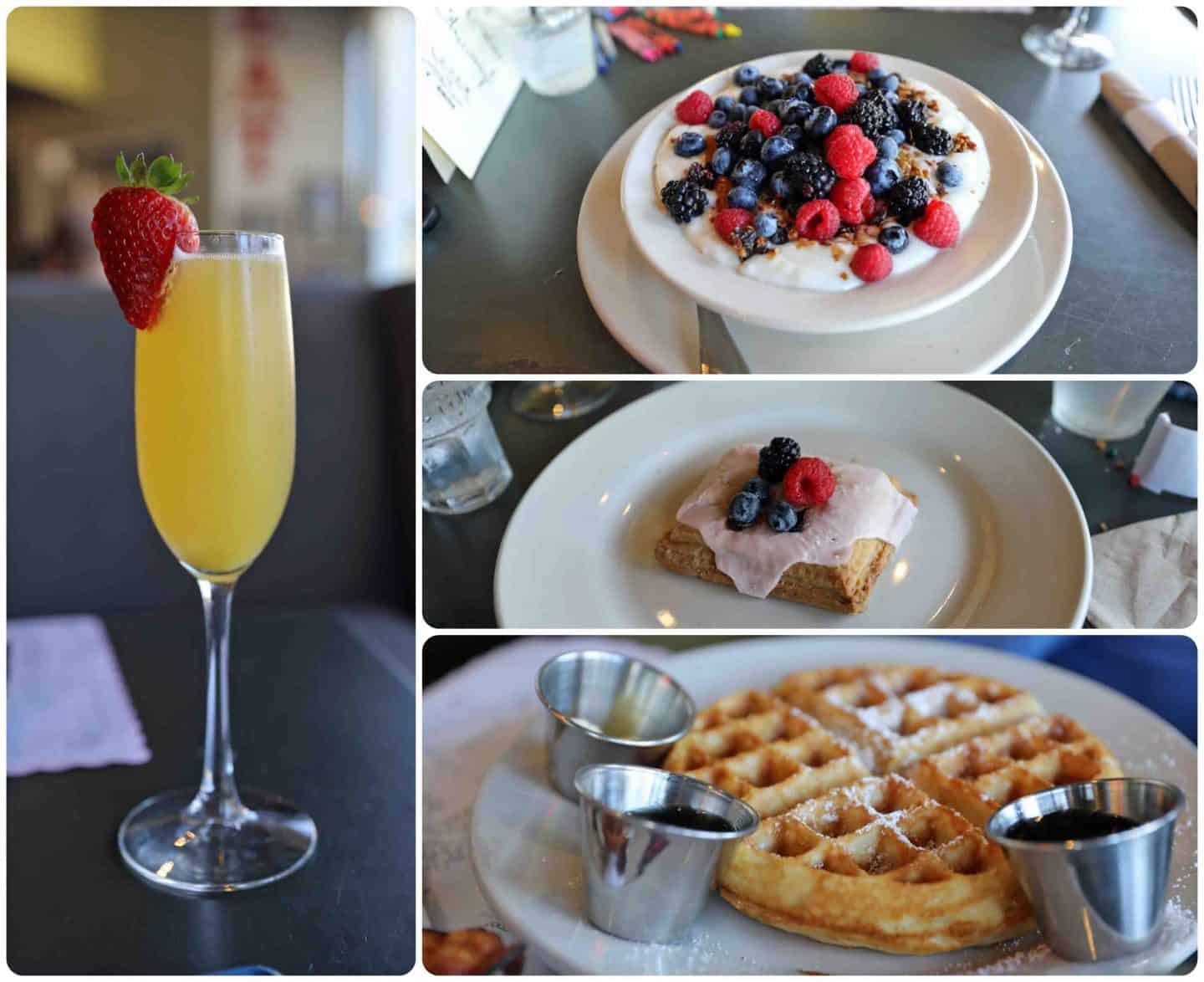 Brunch from Wilma and Frieda's in Palm Springs - how to vacation in palm springs with kids