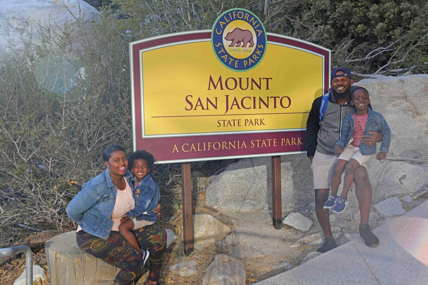 Family visiting Mount San Jacinto State Park