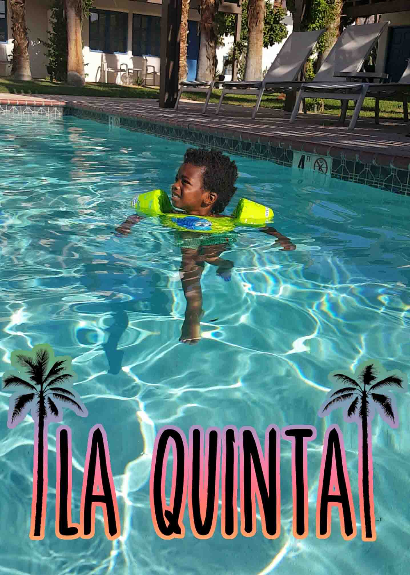 child swimming in the La Quinta Pool
