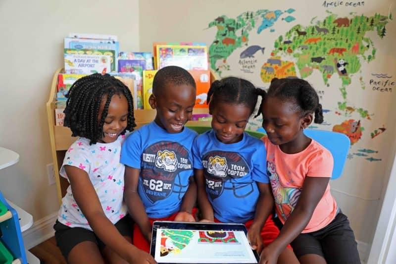 black kids reading