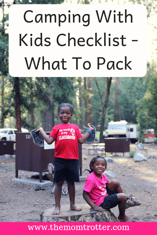 Camping With Kids Checklist - What To Pack