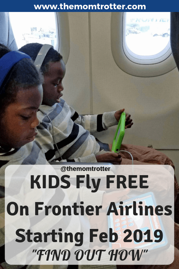kids fly free on frontier airlines