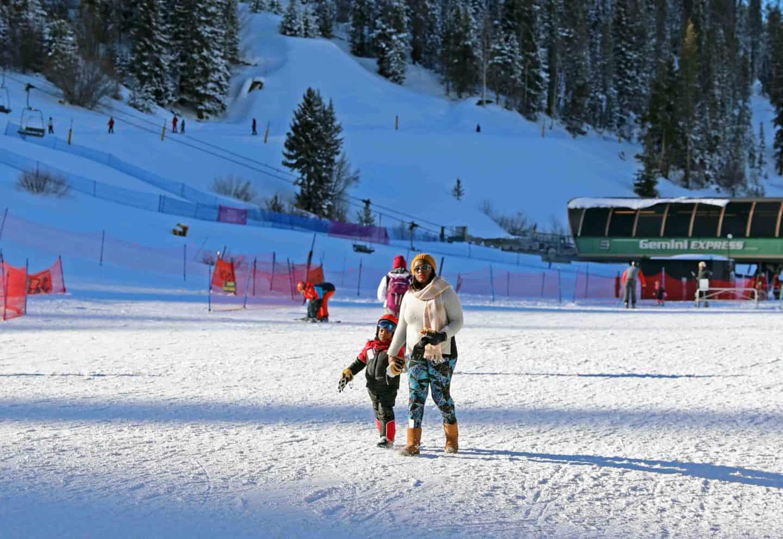 black family ski