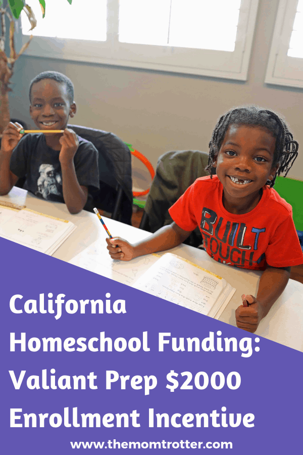 valiant prep california homeschool funding