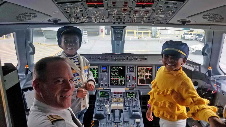 black kids in airplane cockpits, black pilots
