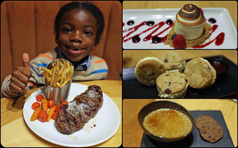 boy eating dinner at deer valley resort
