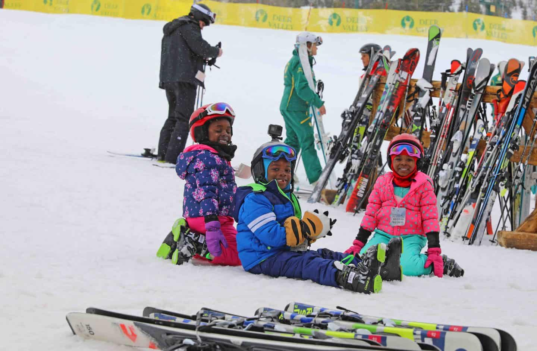 black kids ski