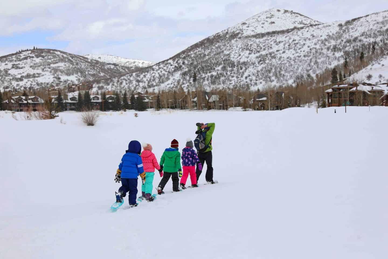 black kids walking in snow