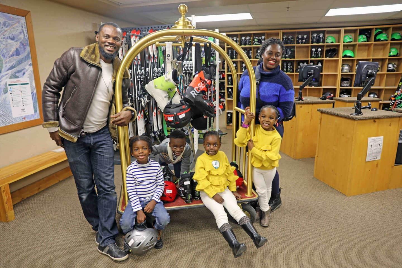 black family at deer valley resort