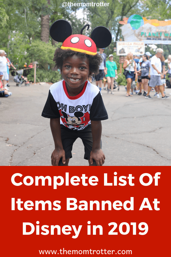 061dea6a0b8 Complete List Of Items Banned At Disney World In 2019