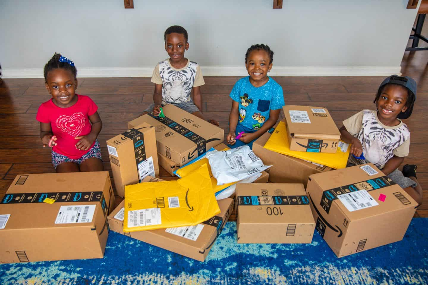 black kids opening amazon boxes Subscription Boxes For Kids