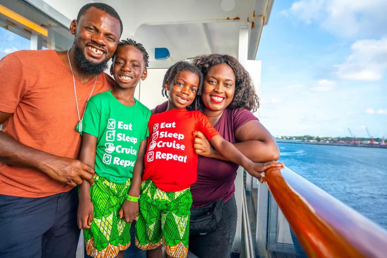 black family enjoying at Key West cruise