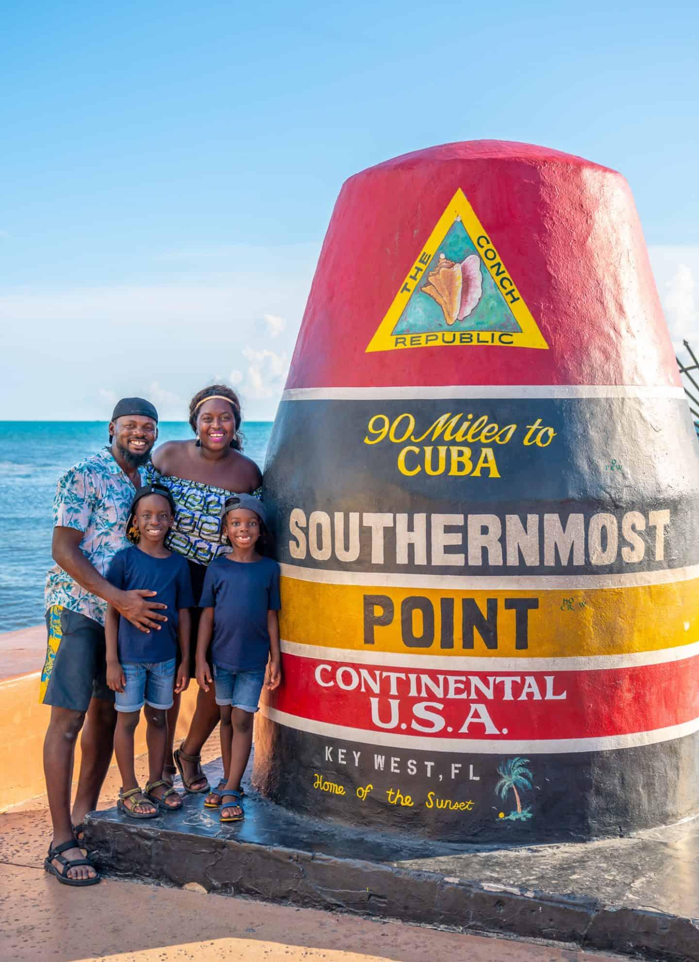 black family trip to the Florida Keys