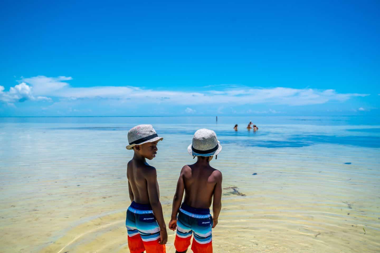 black kids at the beach