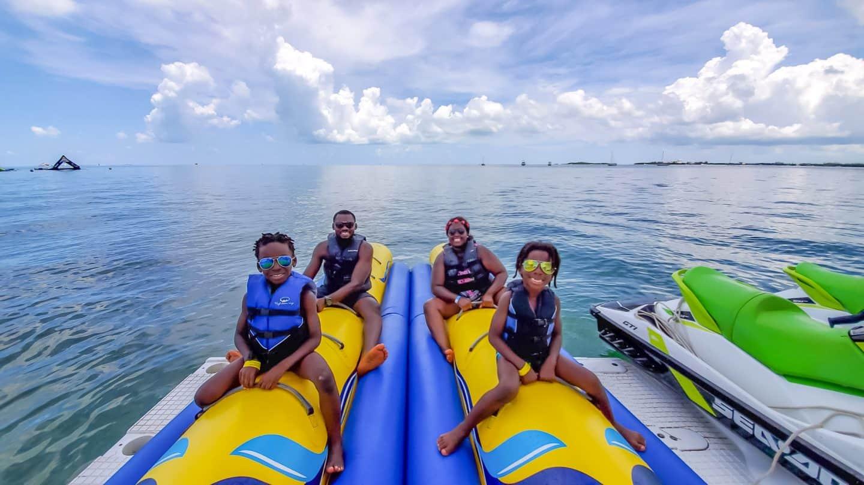 black kids family traveling
