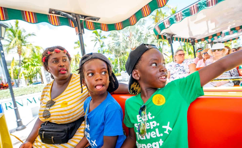 black kids train tour