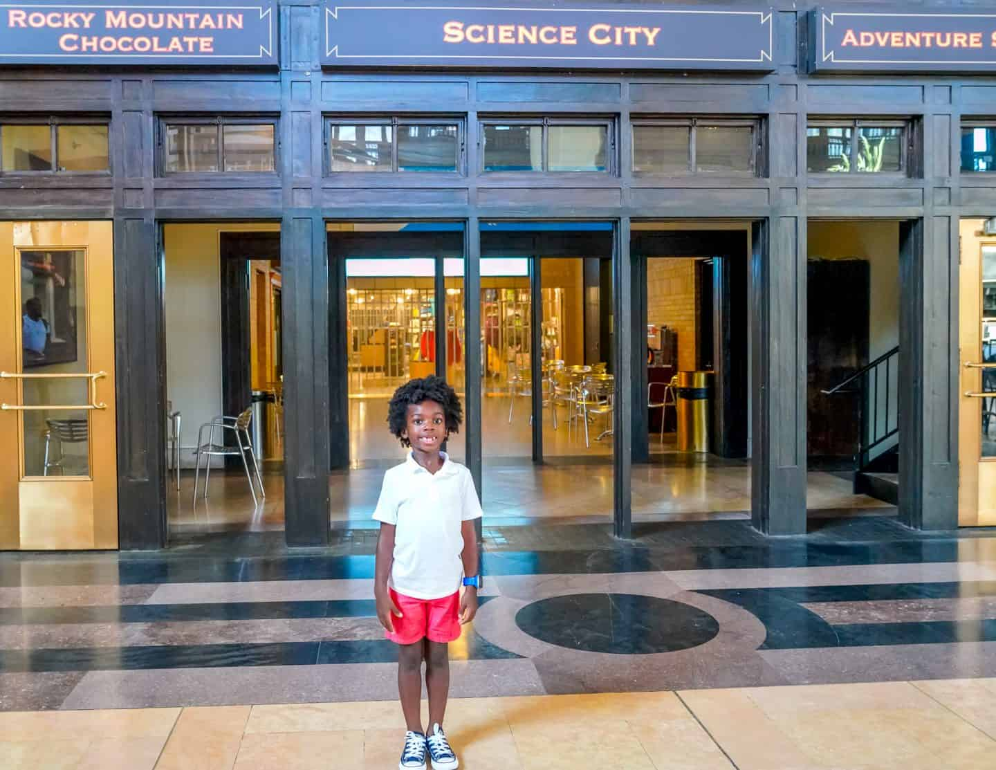 Black kids at Science City