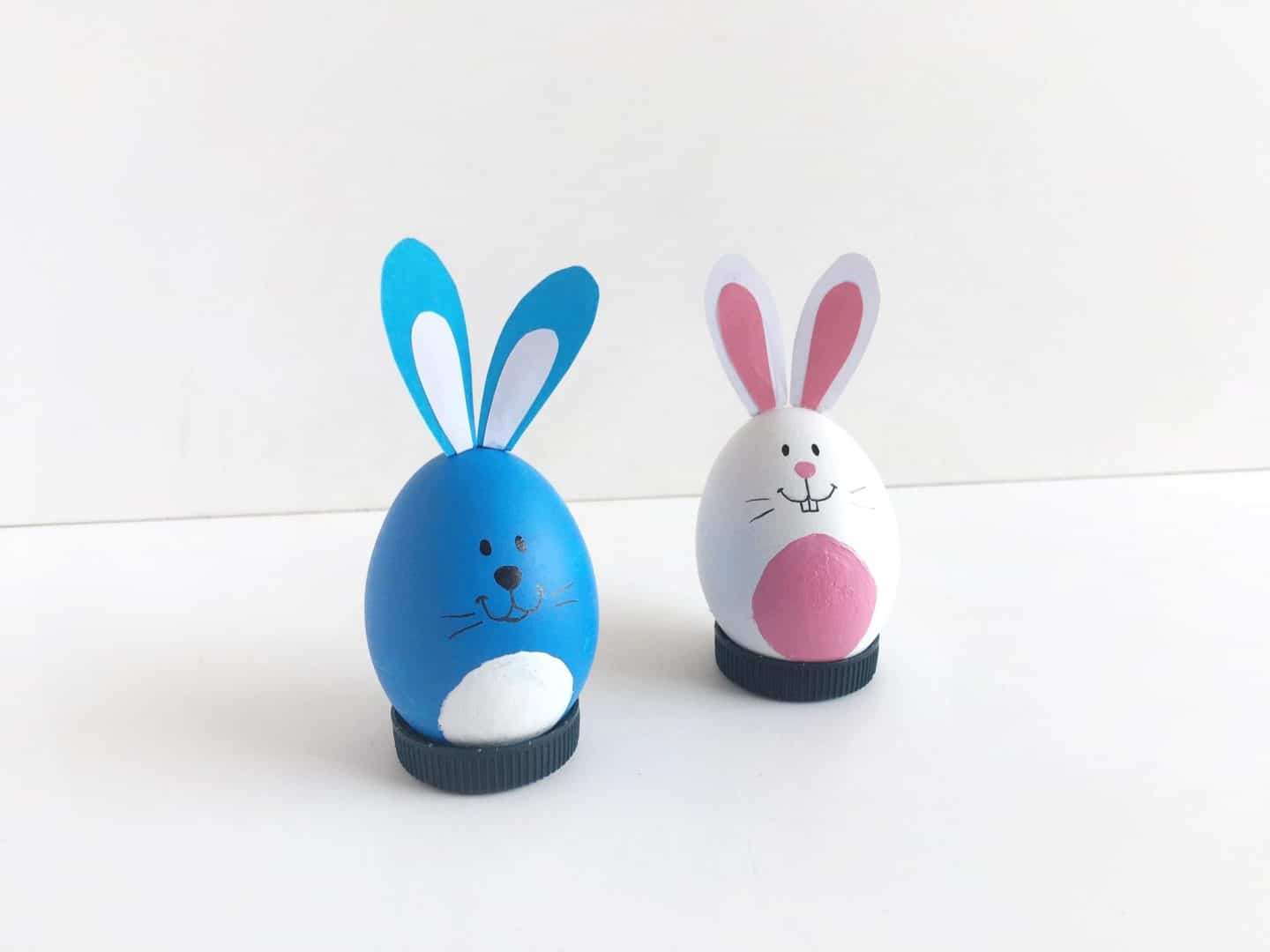 Kids Craft: How To Make Colorful Easter Bunny Eggs